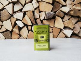 A l'olivier olijfolie met knoflook en tijm | 250ml