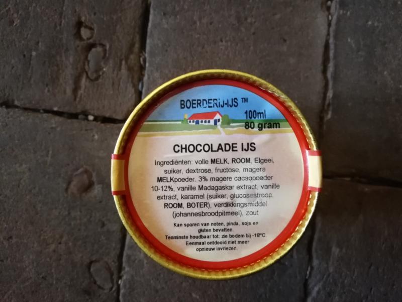 Boerderij ijs Chocolade ijs