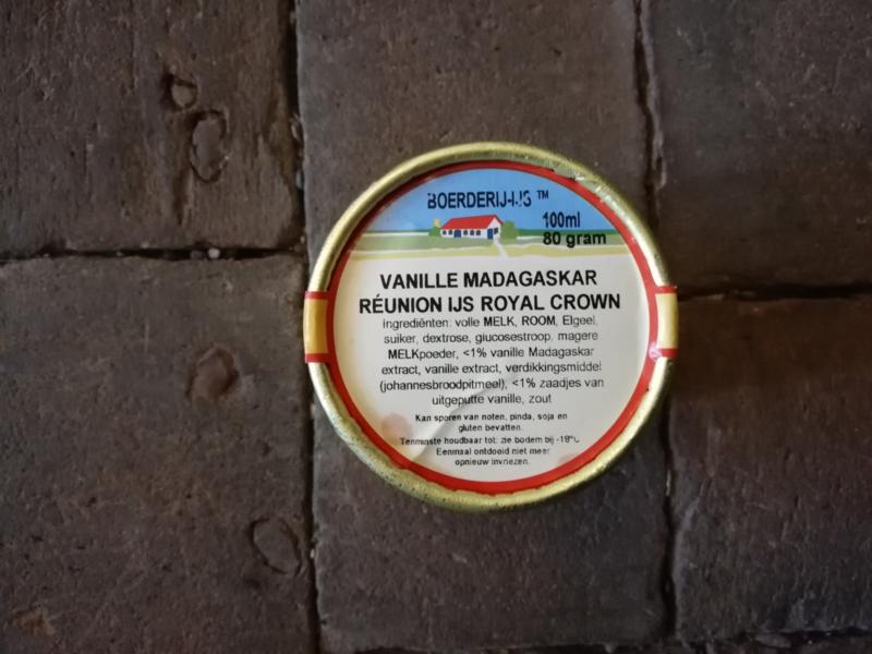 Boerderij ijs Vanille Madagaskar Reunion ijs Royal Crown