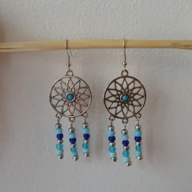 Ibiza stijl hangers blauw