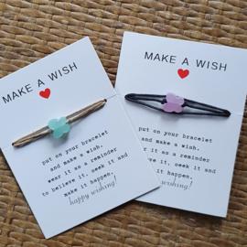 Make a wish armband met kristallen vlinder