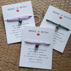 Make a wish armband strass bedel