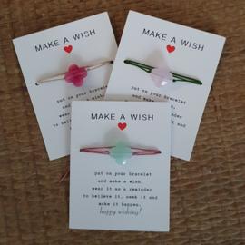 Make a wish armband met kristallen klavertje 4