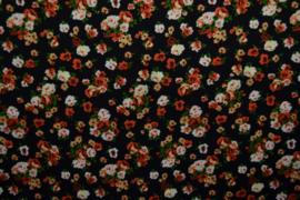 Viscose - Flowers black