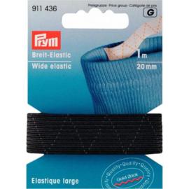 Prym standaard elastiek 20mm zwart