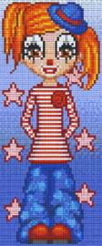 Pixelhobby set - clown Marilyn - 3 basisplaten