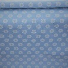 Katoen - Flower blue