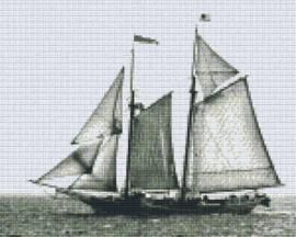 Pixelhobby set - ship - 9 basisplaten