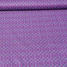 Katoen - Emma's garden lovely lattice purple