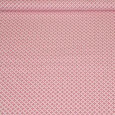 Katoen - Bel fiori little square roze