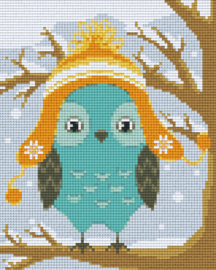 Pixelhobby set - uil winter - 4 basisplaten
