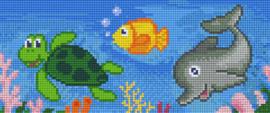 Pixelhobby set - oceaan - 3 basisplaten