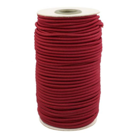 Koord elastiek 3mm - rood