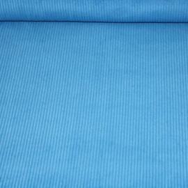 Dikke ribfluweel - blauw