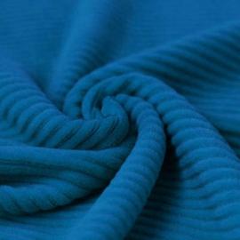 Dikke ribfluweel tricot - blauw