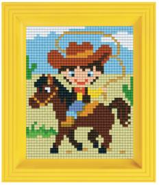 Pixelhobby geschenkverpakking - cowboy