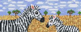 Pixelhobby set - zebra's - 2 basisplaten