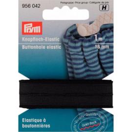 Prym knoopsgatenelastiek 18mm zwart