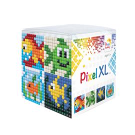 Pixel kubus XL - vissen