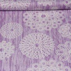 Katoen - Brambleberry knots&loops lila