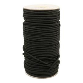 Koord elastiek 3mm - zwart
