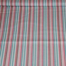 Katoen - Girl stripe blue