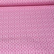 Katoen - Emma's garden lovely lattice pink