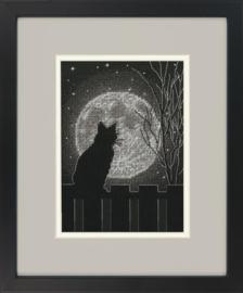 Borduur telpakket kit - Black moon cat