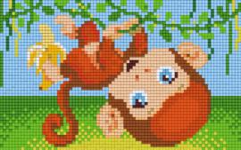 Pixelhobby set - aapje - 2 basisplaten