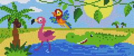Pixelhobby set - waterdieren - 3 basisplaten