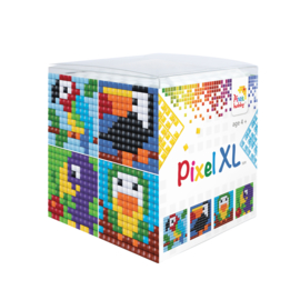 Pixel kubus XL - vogels
