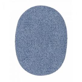 Kniestukken jeans lichtblauw