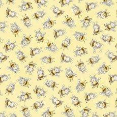 Katoen - Yellow bunny bees