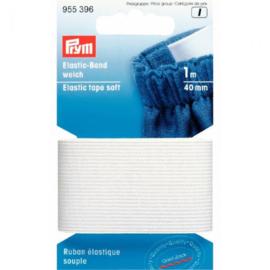 Prym band elastiek zacht 40mm wit