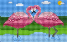 Pixelhobby set - flamingo's  - 2 basisplaten