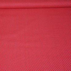 Katoen - Polkadot rood