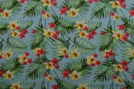 Viscose - Flowers blue