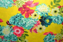 Viscose - Flowers yellow