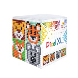 Pixel kubus XL - wilde dieren