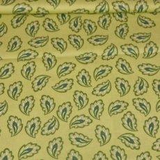 Katoen - Vintage paisley green
