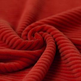 Dikke ribfluweel tricot - rood