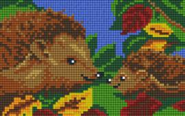 Pixelhobby set - egels - 2 basisplaten