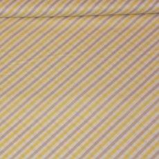 Katoen - Boy stripes yellow