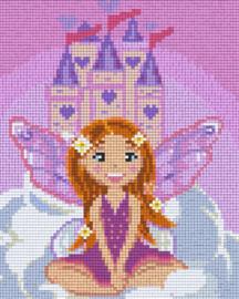 Pixelhobby set - prinses kasteel - 4 basisplaten