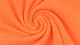 Effen tricot - Oranje neon