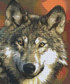 Pixelhobby set - wolf - 6 basisplaten