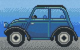 Pixelhobby set - oldtimer blauw - 2 basisplaten
