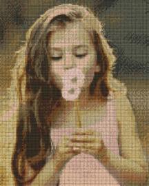 Pixelhobby set - blowing flowers - 9 basisplaten