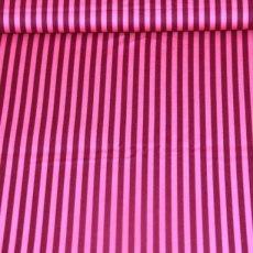 Katoen - Basics clown stripe purple