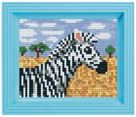 Pixelhobby geschenkverpakking - zebra